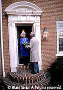 Active Aging Senior Citizens, Retired, Activities, Elderly Woman Greets Male Guest, Elderly Dating,