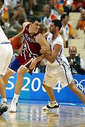 ATENE, 26 AGOSTO 2004<br /> BASKET, OLIMPIADI ATENE 2004<br /> ITALIA - PORTORICO<br /> NELLA FOTO: MATTEO SORAGNA<br /> FOTO CIAMILLO