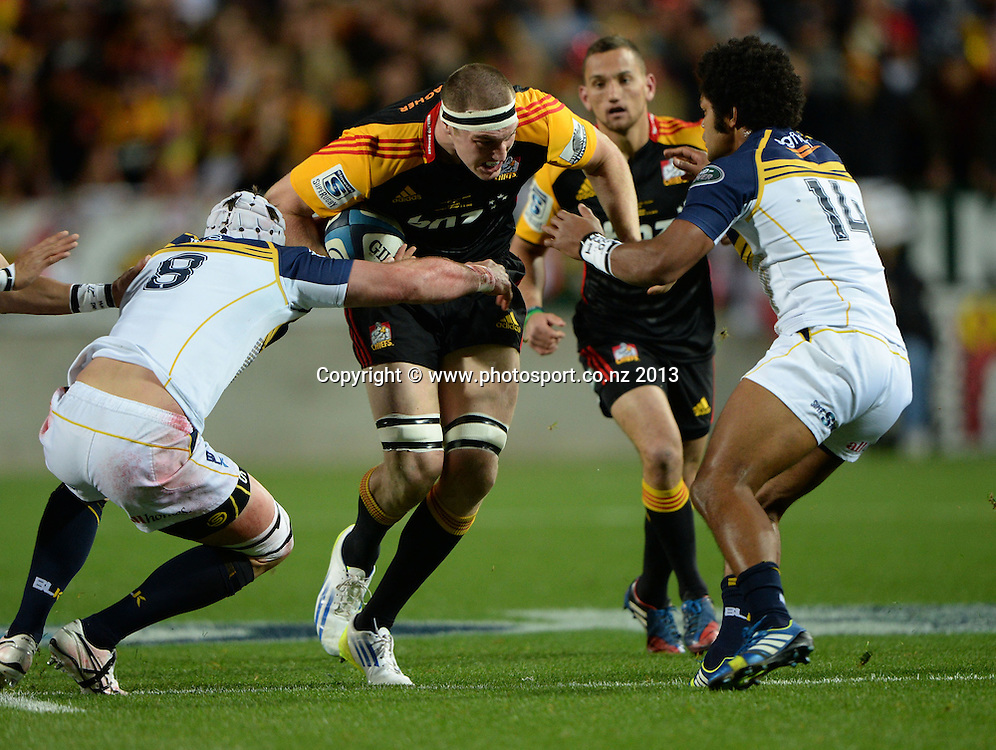 Brodie Rettalick. Super Rugby Final. Chiefs v Brumbies. Waikato Stadium, Hamilton, New Zealand on Saturday 3 August 2013. Photo: Andrew Cornaga/www.Photosport.co.nz