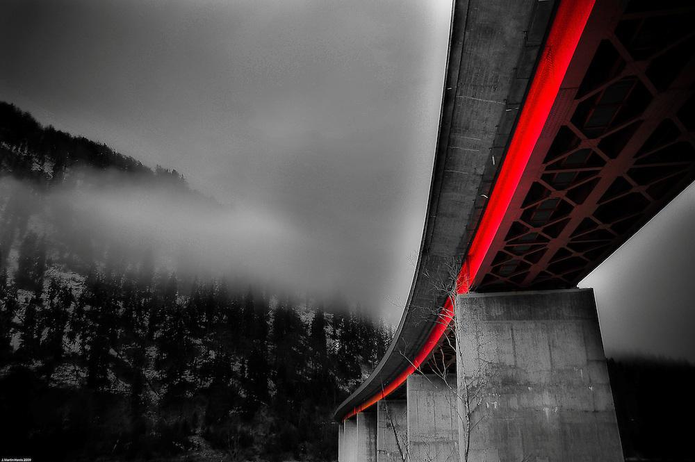 A bridge spans the Elbe River in Garmische, Bavaria
