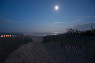 Path, Moonlight, Georgica Beach, East Hampton, Long Island, NY
