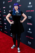 CHELSEA STARDUST attends the Los Angeles premiere of Satanic Panic at the Egyptian Theatre in Los Angeles, California.