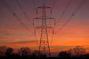 Electricity pylon near Burbage, Leicestershire, United Kingdom