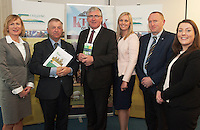 Angela Shine Kepak , Prof Gerry Boyle Director Teagasc , Minister Tom Hayes, Stephanie Fitzgerlad Supervalu, Michael Geoghegan, Kepak and Aine Mulvihill, Kepak  at the launch of Sheep2015 to be held on Saturday the 20th of June 2015 at the Mellows Campus in Athenry Co. Galway.<br />  Photo by Andrews Downes XPOSURE