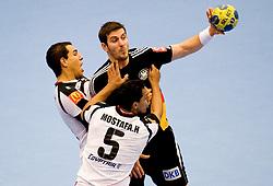 14.01.2011, FFS Arena, Lund, SWE, IHF Handball Weltmeisterschaft 2011, Herren, Deutschland (GER) vs Aegypten (EGY) im Bild, // Michael Haass // during the IHF 2011 World Men's Handball Championship match Germany (GER) vs Egypt (EGY) at FFS Arena in Lund. . EXPA Pictures © 2011, PhotoCredit: EXPA/ nph/  Bildbyrån   76200       ****** out of GER / SWE / CRO ******