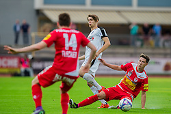 25.05.2016, Franz Fekete Stadion, Kapfenberg, AUT, 2. FBL, KSV 1919 vs SV Austria Salzburg, 36. Runde, im Bild v.l.: Florian Flecker (KSV 1919), Felix Huspek (SV Austria Salzburg), Manuel Haas (KSV 1919) // during the Austrian Erste Liga Match, 36th Round, between KSV 1919 and SV Austria Salzburg at the Franz Fekete Stadium, Kapfenberg, Austria on 2016/05/25, EXPA Pictures © 2016, PhotoCredit: EXPA/ Dominik Angerer