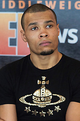 © Licensed to London News Pictures. 24/03/2016. CHRIS EUBANK JR attends a press conference for his fight against  CHRIS BLACKWELL at SSE Arena Wembley on Saturday 26th March 2016. London, UK. Photo credit: Ray Tang/LNP