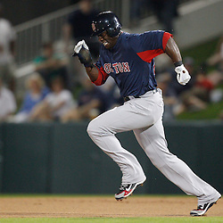 February 27, 2011; Fort Myers, FL, USA; Boston Red Sox center fielder Mike Cameron (23) during a spring training exhibition game against the Minnesota Twins at Hammond Stadium.  Mandatory Credit: Derick E. Hingle