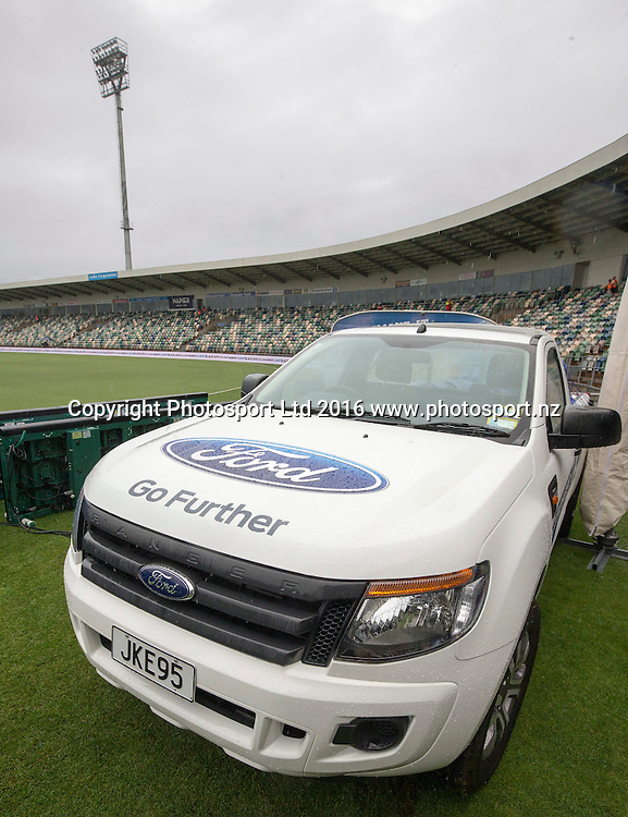 Ford Ranger at McLean Park, ODI Cricket, Black Caps v Pakistan, McLean Park, Napier, New Zealand. Thursday, 28 January, 2016. Copyright photo: John Cowpland / www.photosport.nz