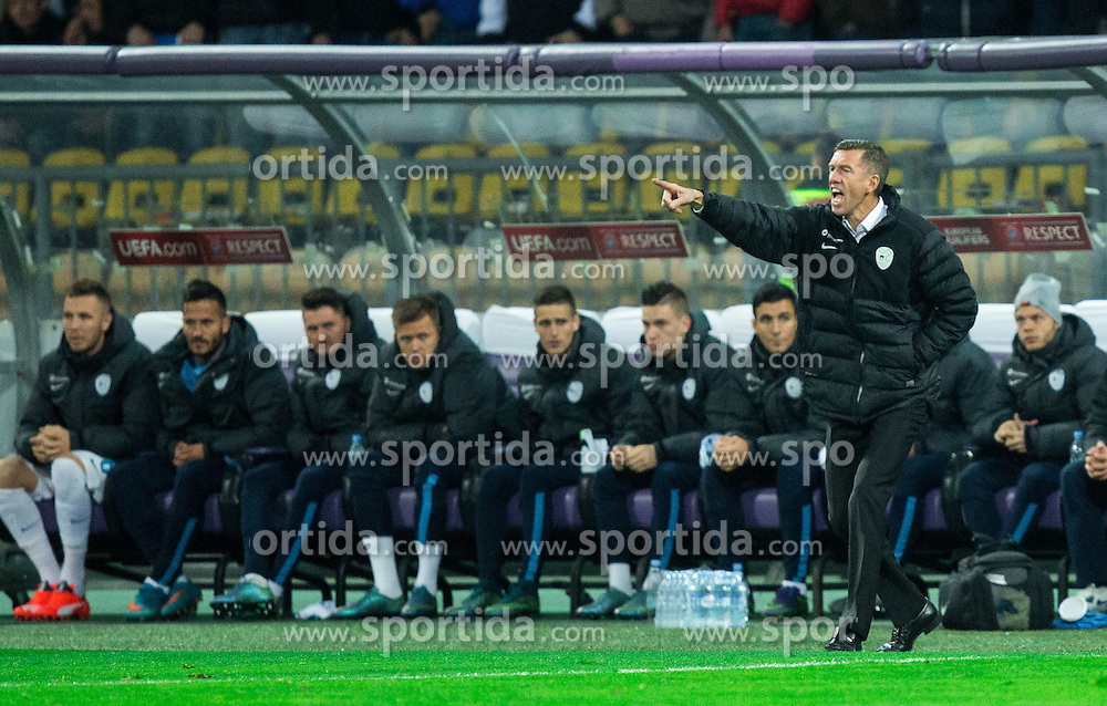 Srecko Katanec, head coach of Slovenia during the UEFA EURO 2016 Play-off for Final Tournament, Second leg between Slovenia and Ukraine, on November 17, 2015 in Stadium Ljudski vrt, Maribor, Slovenia. Photo by Vid Ponikvar / Sportida
