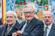 Lord Heseltine. Tony Benn's funeral at 11.00am at St Margaret's Church, Westminster. His body was brought in a hearse from the main gates of New Palace Yard at 10.45am, and was followed by members of his family on foot. The rout was lined by admirers. On arrival at the gates it was carried into the church by members of the family. Thursday 27th March 2014, London, UK.