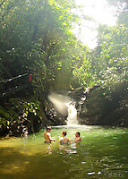 Waterfall swim on Santa Juana tour, Costa Rica