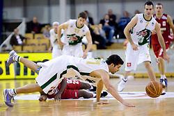 Saso Ozbolt of Olimpija at basketball match of NLB League between KK Union Olimpija and KK Crvena zvezda,  on October 24, 2009, Arena Tivoli, Ljubljana, Slovenia.  Union Olimpija won 94:76.  (Photo by Vid Ponikvar / Sportida)