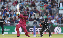 West Indies Chris Gayle during the ICC Cricket World Cup group stage match at Old Trafford, Manchester.
