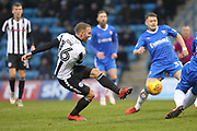 Matty Done shoots during the EFL Sky Bet League 1 match between Gillingham and Rochdale at the MEMS Priestfield Stadium, Gillingham, England on 13 January 2018. Photo by Daniel Youngs.