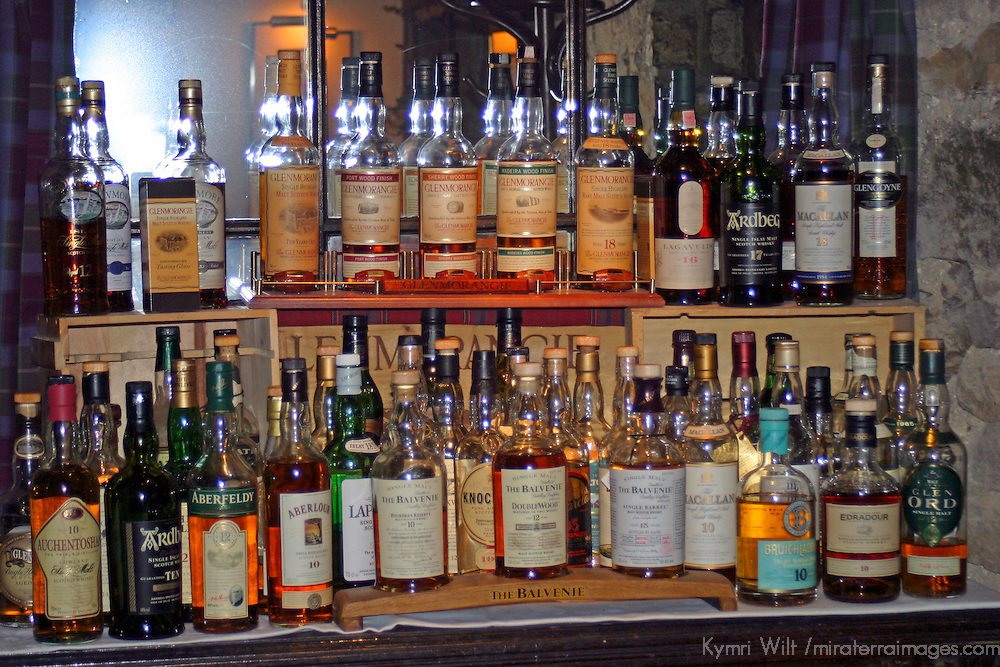 Europe, Great Britain, United Kingdom, Scotland. Scotch Whiskey selection.