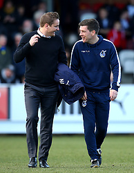 AFC Wimbledon manager Neal Ardley and Bristol Rovers manager Darrell Clarke - Mandatory by-line: Robbie Stephenson/JMP - 17/02/2018 - FOOTBALL - Cherry Red Records Stadium - Kingston upon Thames, England - AFC Wimbledon v Bristol Rovers - Sky Bet League One