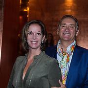NLD/Amsterdam/20130907 - Modeshow najaar Mart Visser 2013, Annemarie van Gaal en partner Frans de Vlieger