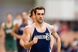 Matt Debole (Georgetown) in the men's 1000m run.  Day 2 of the Virginia Tech Invitational Track and Field meet was held at the Rector Field House on the campus of Virginia Tech in Blacksburg, VA on January 12, 2008.
