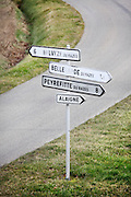road places direction signs France Aude