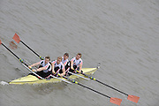 London, GREAT BRITAIN, Leander IV, Elite M4-, Pennant Winners  Fullers Fours Head of the River Race, Raced over the reverse Championship Course, Mortlake to Putney. Saturday  [Date}. [Mandatory Credit. Peter Spurrier/Intersport Images] Rowing Course: River Thames, Championship course, Putney to Mortlake 4.25 Miles,