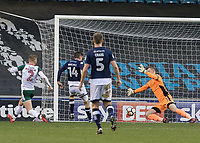 Football - 2017 / 2018 FA Cup - Third Round: Millwall vs. Barnsley<br /> <br /> Jed Wallace (Millwall FC) with only the goalkeeper to beat puts his shoy wide at The Den.<br /> <br /> COLORSPORT/DANIEL BEARHAM