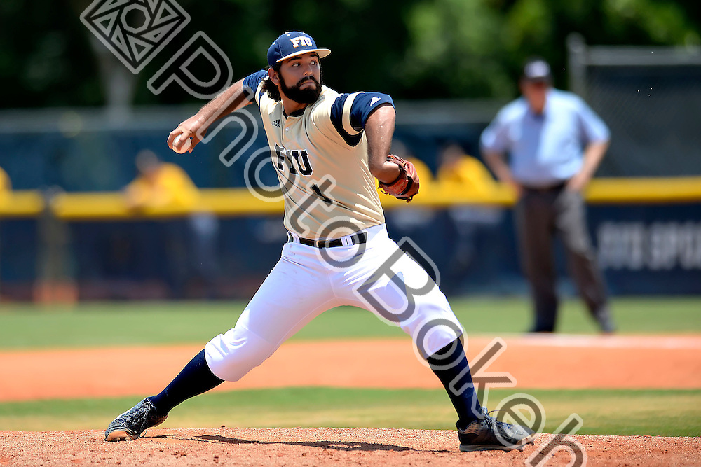 2016 May 21 - FIU's Chris Coipel (1). <br /> Florida International University defeated Southern Mississippi, 13-8, at FIU Baseball Stadium, Miami, Florida. (Photo by: Alex J. Hernandez / photobokeh.com) This image is copyright by PhotoBokeh.com and may not be reproduced or retransmitted without express written consent of PhotoBokeh.com. &copy;2016 PhotoBokeh.com - All Rights Reserved
