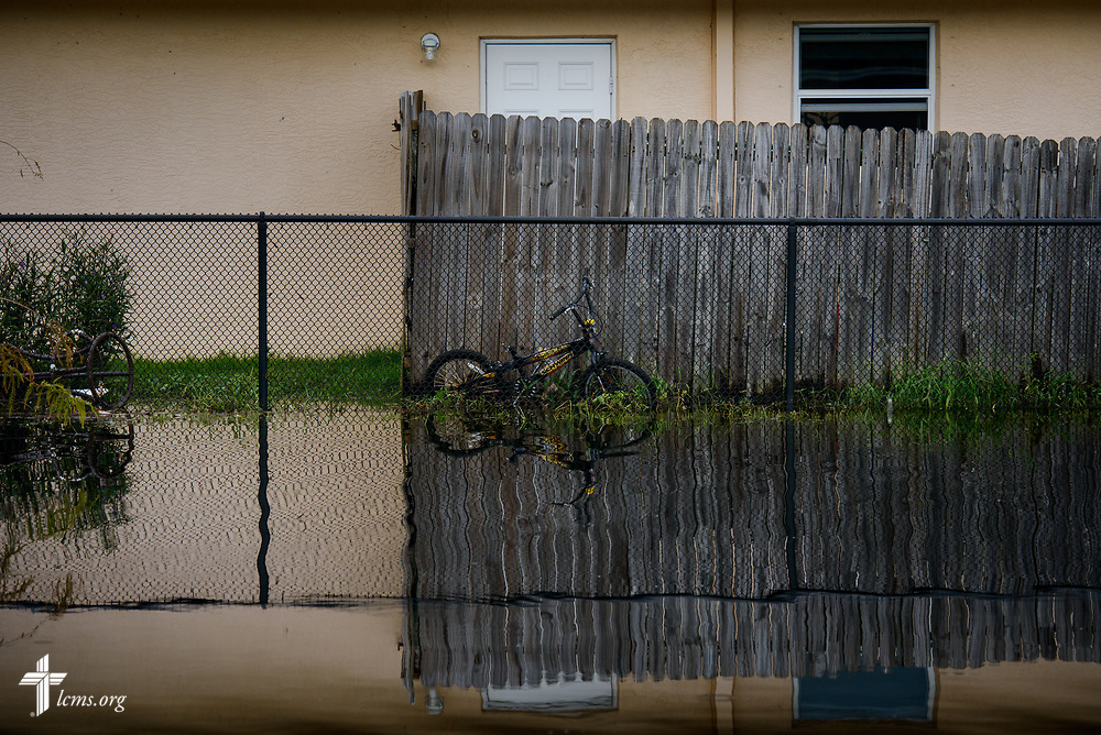 A flooded neighborhood from Hurricane Irma in Bonita Springs, Fla., on Wednesday, Sept. 13, 2017. LCMS Communications/Erik M. Lunsford
