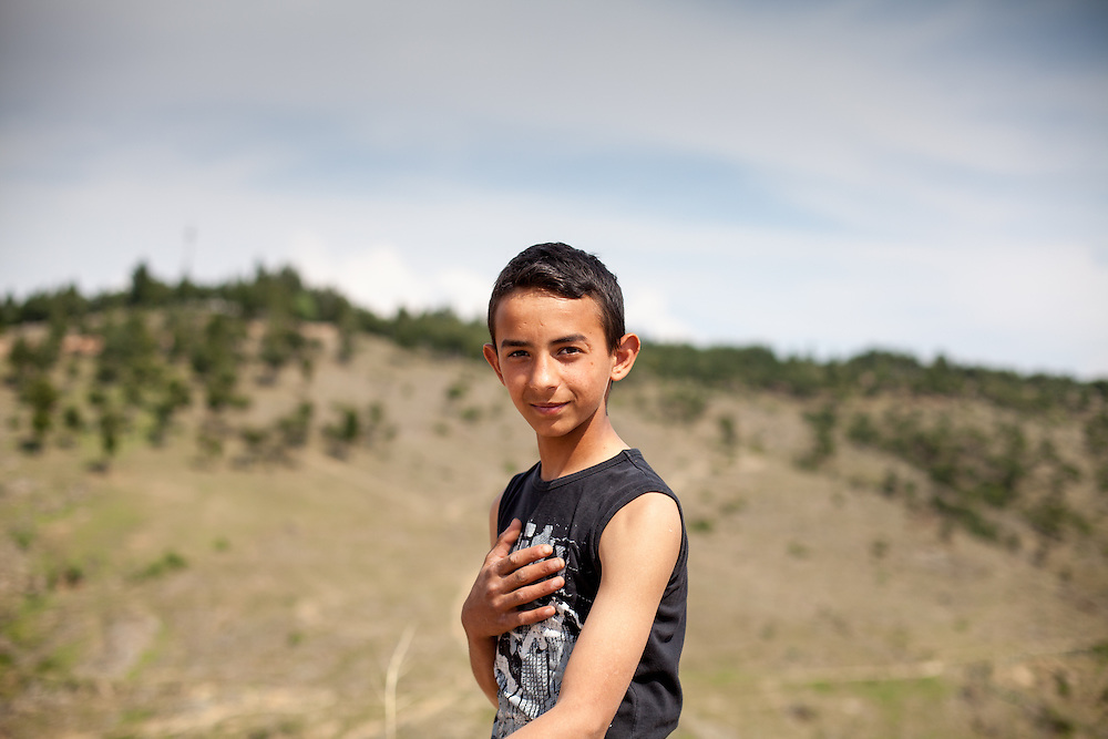 Boy from the local Roma community during the European Immunization Week in the city of Vinica in Macedonia.