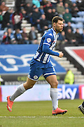 Wigan Athletic Forward, Yanic Wildschut during the Sky Bet League 1 match between Wigan Athletic and Bury at the DW Stadium, Wigan, England on 27 February 2016. Photo by Mark Pollitt.
