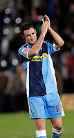 Photo: Marc Atkins.<br />Wycombe Wanderers v Oxford United. The FA Cup. 11/11/2006. Stephan Oakes celebrates Wycombes win and his late goal to win the match.