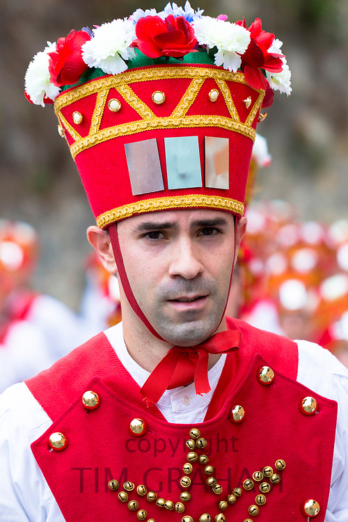 Dancer during San Fermin Fiesta at Pamplona, Navarre, Northern Spain