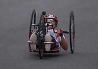LONDON UK 29TH JULY 2016:  Liz McTiernan (GBR). Prudential RideLondon Elite Handcycle Grand Prix at the London Velo Park. Prudential RideLondon in London 29th July 2016<br /> <br /> Photo: Bob Martin/Silverhub for Prudential RideLondon<br /> <br /> Prudential RideLondon is the world&rsquo;s greatest festival of cycling, involving 95,000+ cyclists &ndash; from Olympic champions to a free family fun ride - riding in events over closed roads in London and Surrey over the weekend of 29th to 31st July 2016. <br /> <br /> See www.PrudentialRideLondon.co.uk for more.<br /> <br /> For further information: media@londonmarathonevents.co.uk