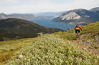 Riders - Chris Milner, and Thane Phillips, Trail Name - Mountain Hero, Carcross Yukon