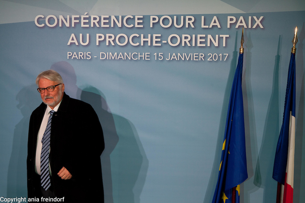 Middle East Peace Conference, Paris, France. International summit. 7O countries have participated in the summit. Poland, Witold Waszczykowski, Minister of Foreign<br /> Affairs