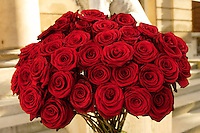27 May 2005, Paris, France --- Bouquet of Red Roses --- Image by © Owen Franken/Corbis