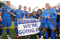 Football - Blue Sq Bet Premier play off final - AFC Wimbledon vs. Luton Town<br /> Wimbledon celebrate victory at the CIty of Manchester Stadium