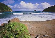 6212-1008B ~ Copyright: George H. H. Huey ~ The beach at Little Englishman's Bay [near the village of Castara]. Caribbean coast of the island of Tobago. Trinidad and Tobago.