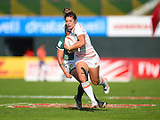 England's Amy Wilson-Hardy gets by a Brazil defender on her way to a try  during the Emirates Dubai rugby sevens match between England  and Brazil  at the Sevens Stadium, Al Ain Road, United Arab Emirates on 1 December 2016. Photo by Ian  Muir.*** during the Emirates Dubai rugby sevens match between *** and ***  at the Sevens Stadium, Al Ain Road, United Arab Emirates on 1 December 2016. Photo by Ian  Muir.