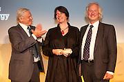 David Attenborough presents the UK Gold award to The Isle of Eigg Heritage Trust, Scotland