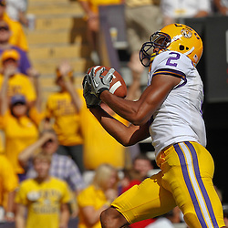 October 8, 2011; Baton Rouge, LA, USA;  LSU Tigers wide receiver Rueben Randle (2)  catches a touchdown against the Florida Gators during the first quarter at Tiger Stadium.  Mandatory Credit: Derick E. Hingle-US PRESSWIRE / © Derick E. Hingle 2011