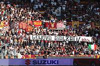 Roma supporters with a banner of support to the city of Genova. Striscione per Genova dei tifosi della Roma <br /> Torino 19-08-2018 Stadio Olimpico Grande Torino <br /> Football Calcio Serie A 2018/2019 Torino - Roma Foto Gino Mancini / Insidefoto