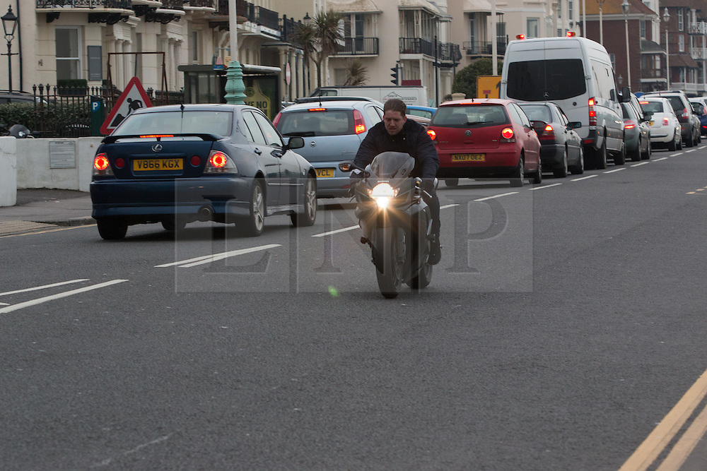© Licensed to London News Pictures. 11/03/2016. Brighton, UK. A man is being followed by 2 police helicopters and cars after  driving in excess of 100MPH through Brighton. Today March 11th 2016. Photo credit: Hugo Michiels/LNP