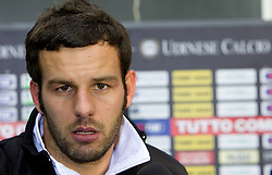 Samir Handanovic of Udinese after the football match between Udinese Calcio and Palermo in 8th Round of Italian Seria A league, on October 24, 2010 at Stadium Friuli, Udine, Italy.  Udinese defeated Palermo 2 - 1. (Photo By Vid Ponikvar / Sportida.com)