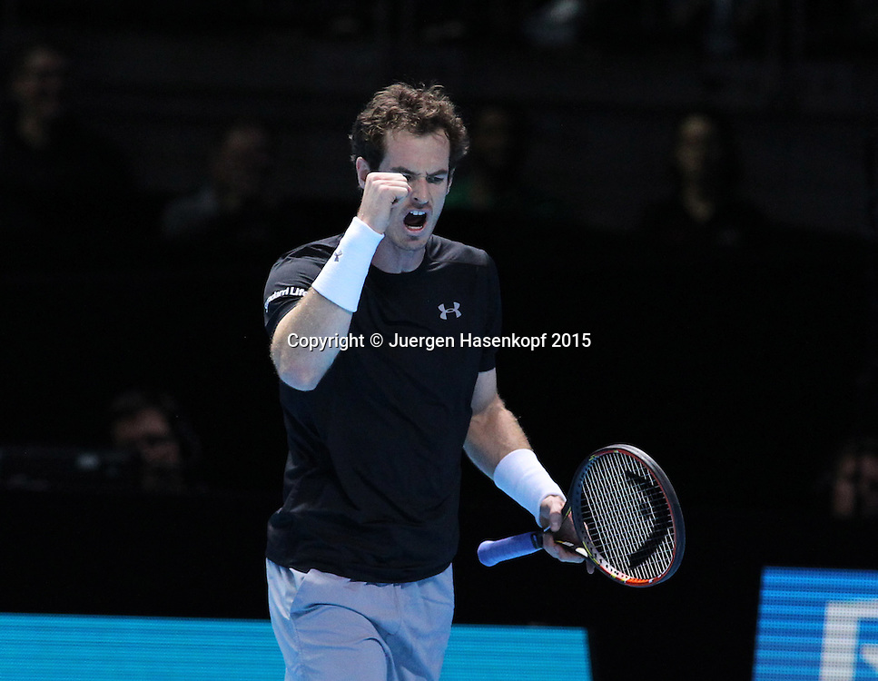 Andy Murray (GBR), ATP World Tour Finals, O2 Arena, London, England.<br /> <br /> Tennis - ATP World Tour Finals 2015 - ATP -  O2 Arena - London -  - Great Britain  - 20 November 2015. <br /> &copy; Juergen Hasenkopf/Grieves