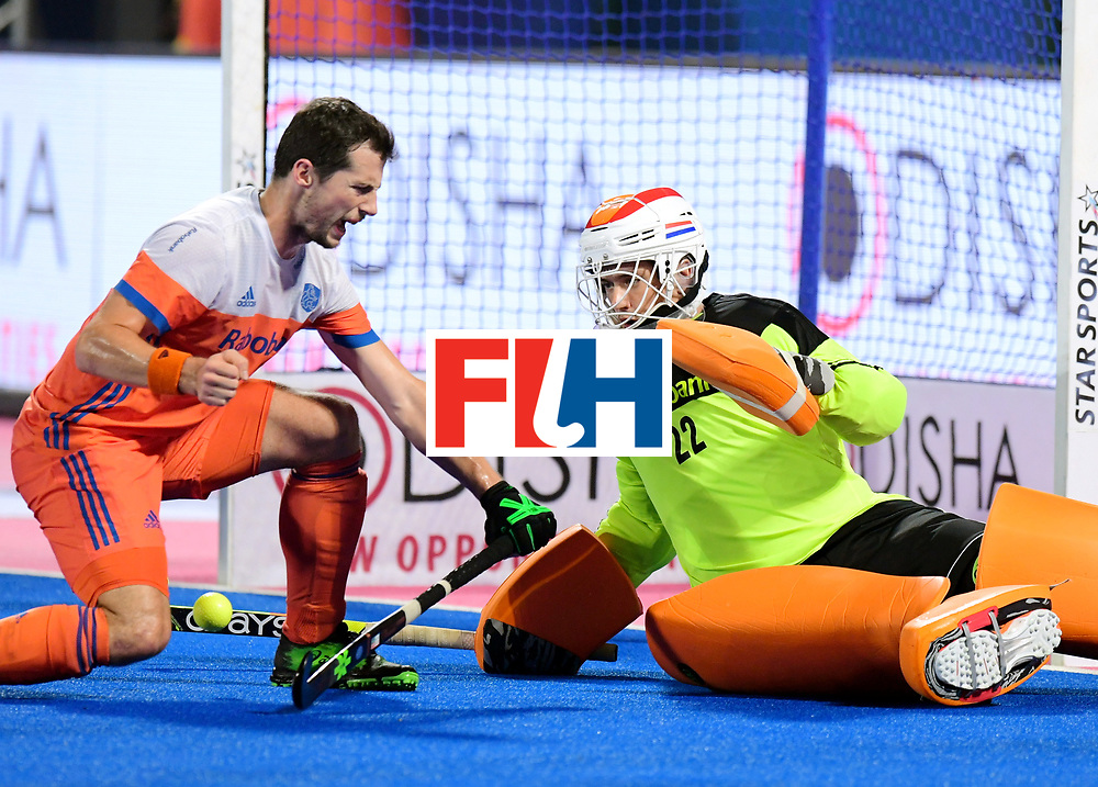 Odisha Men's Hockey World League Final Bhubaneswar 2017<br /> Match id:16<br /> Germany v Netherlands<br /> Foto: keeper Sam van der Ven (Ned) <br /> COPYRIGHT WORLDSPORTPICS FRANK UIJLENBROEK