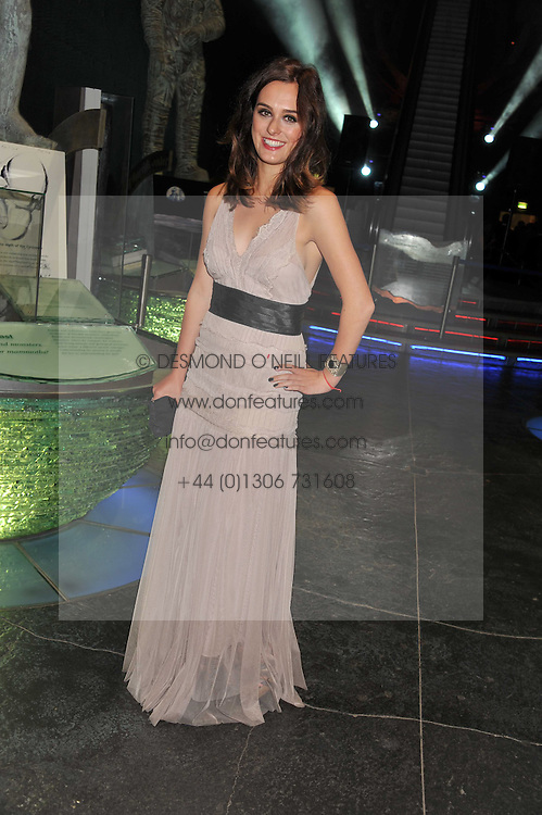 Actress LOUI BATLEY at The Global Party held at The Natural History Museum, Cromwell Road, London on 8th September 2011.