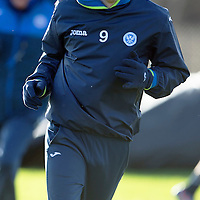 St Johnstone Training…..29.01.16<br />Streven MacLean pictured during training at McDiarmid Park this morning ahead of tomorrow's League Cup semi-final against Hibs at Tynecastle<br />Picture by Graeme Hart.<br />Copyright Perthshire Picture Agency<br />Tel: 01738 623350  Mobile: 07990 594431