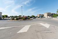 San Giorgio Jonico, Taranto. Rotatoria stadale in periferia