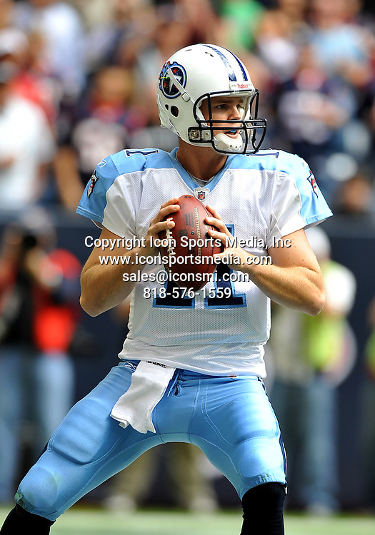 28 November 2010: Tennessee Titans quarterback Rusty Smith (11) during the game between the Tennessee Titans and the Houston Texans at Reliant Stadium in Houston, Texas. Texans win over the Titans 20-0.